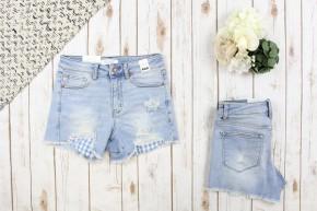 Gingham Pocket Judy Blue Shorts