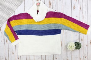 Multi Color Turtle Neck Sweater