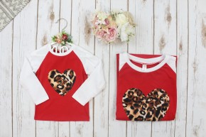 Cheetah Love Valentines Day Kids Top