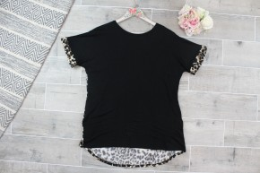 Cheetah Tunic Top With Criss Cross Back