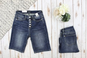 5 Button Judy Blue Bermuda Shorts