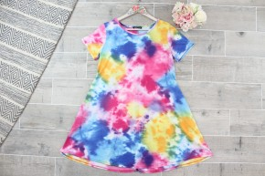 Rainbow Tie Dye Swing Dress