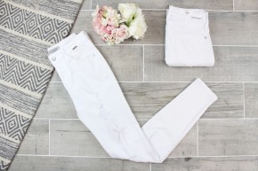 White Destroyed Skinny Judy Blue Jeans
