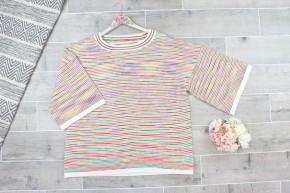 Rainbow Hug Short Sleeve Sweater