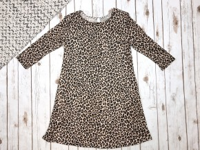 Cheetah Print 3/4 Sleeve Dress