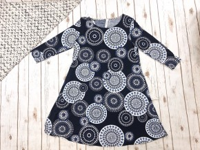 Mosaic 3/4 Length Sleeve Dress