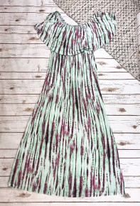 Off The Shoulder Maxi with an Overlay
