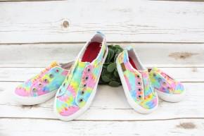 Kids Pastel Tie Dye Sneakers