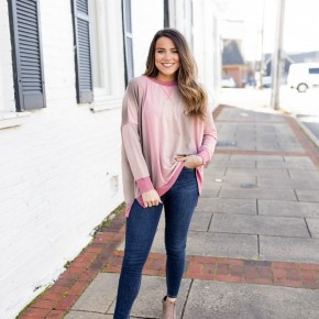 My Go To Mauve Pullover