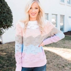 Meant To Be Yours Color Block Sweater