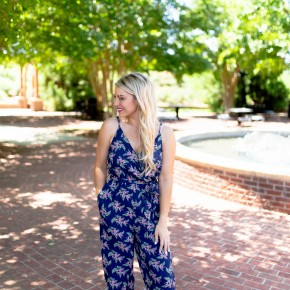 Midnight Blooms Jumpsuit