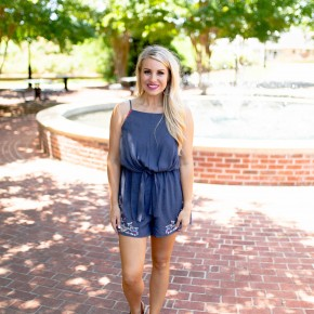 Blue Without You Romper