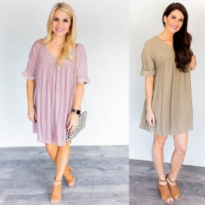 Sweet & Simple Babydoll Dress