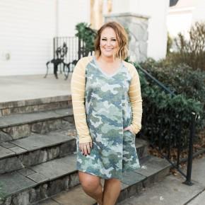 Camo + Sunshine Dress