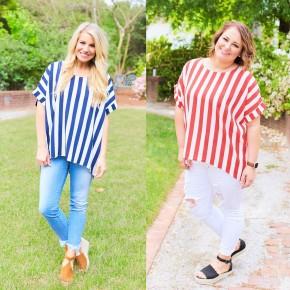 Striped & Sassy Top