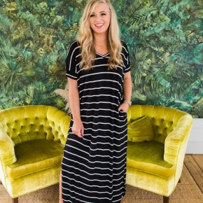 Our Best Selling Striped Maxi - Hot Pink Deal *Final Sale*