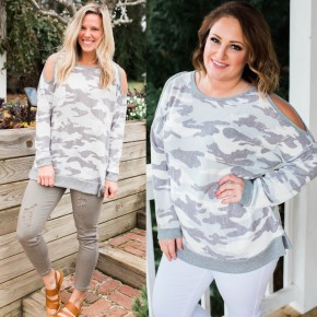 Cold Shoulders, Warm Heart Pullover