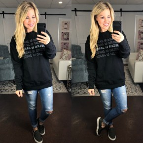 Jules and James Black Sweatshirt