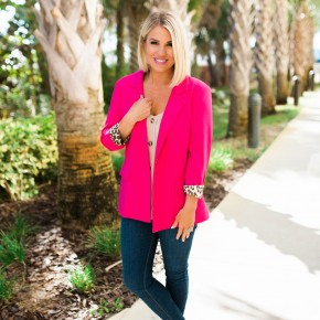 Chic in Pink Blazer