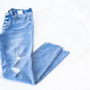 Gotta Have My Light Wash High Waisted Jeans