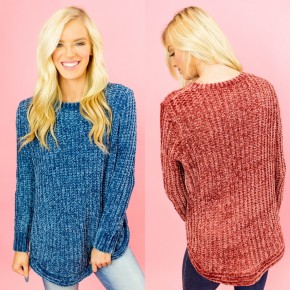 Here For The Cuddles Chenille Sweater