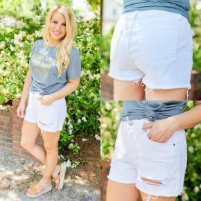 White Royalty YMI Shorts