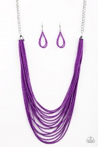 Peacefully Pacific - Purple Seed Bead Necklace