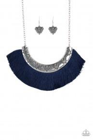 Might And MANE - Blue Fringe Necklace