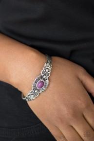 Wide Open Mesas - Purple Cuff Bracelet