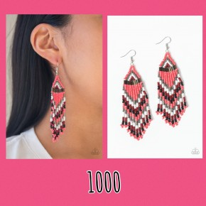 Colors Of The Wind - Coral Seed Bead Earrings