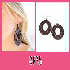 Retro Retreat - Brown Earrings