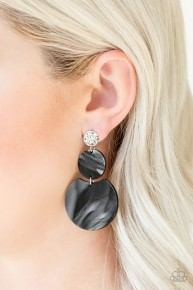 Miami Mariner - Black Post Acrylic Earrings
