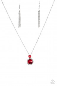 Date Night Dazzle - Red Necklace