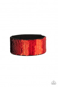 Mer-mazingly Mermaid - Red Urban Sequin Bracelet