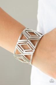 Textile Tango - Silver Bracelet