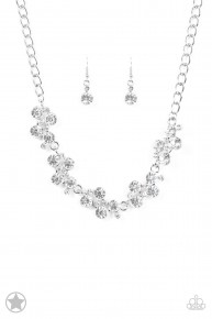 Hollywood Hills - White Blockbuster Necklace