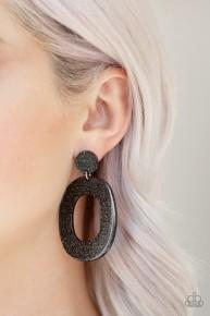 Miami Boulevard - Black Acrylic Earrings