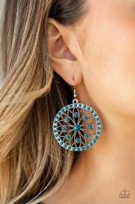 Merry Mandalas - Blue Earrings