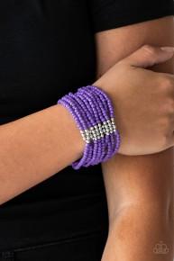 Outback Odyssey - Purple Seed Bead Bracelet