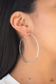 Perfect Shine - Silver Hoop Earrings