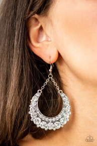 Once In A Showtime - White Earring