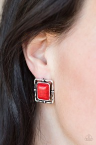 Center Stagecoach - Red Earrings