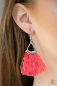Tassel Tuesday's - Orange Fringe Earrings