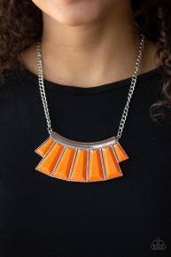 Glamour Goddess - Orange Necklace