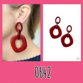 Torrid Tropicana - Red Acrylic Earrings