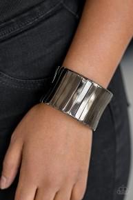Urban Uptrend - Black Cuff Bracelet