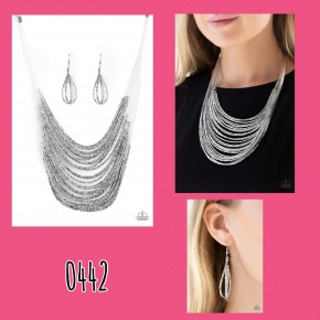 Catwalk Queen - Silver Seed Bead Necklace