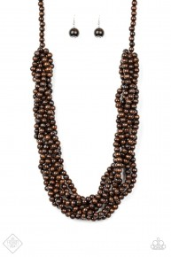 Tahiti Tropic - Brown/Wooden Necklace