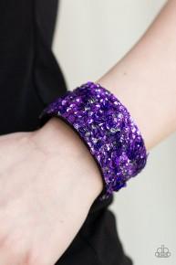Starry Sequins - Purple Urban Bracelet