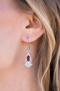 Infinite Shine - Red Earrings